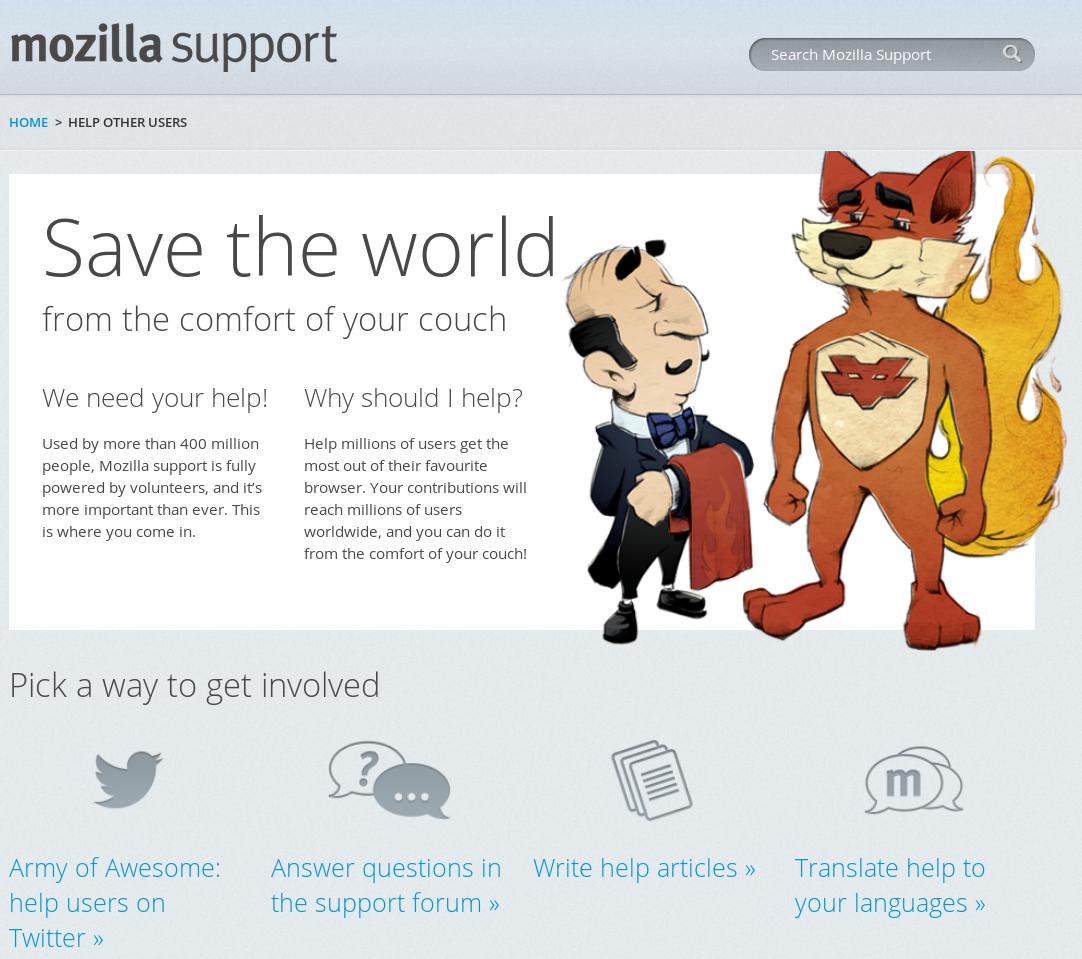 Support Mozilla